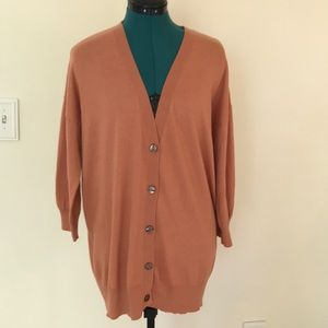 Dana Buchman Peach Light-Weight Cardigan